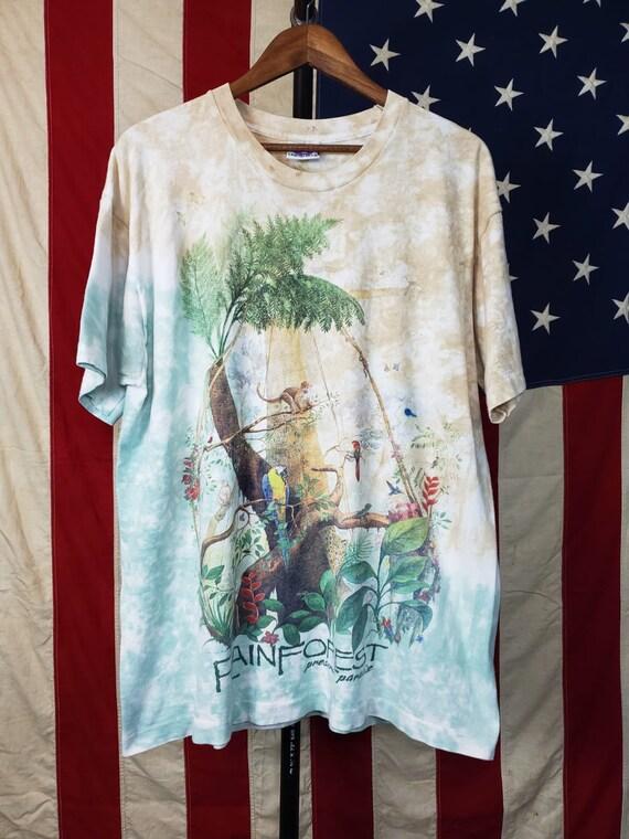90s Liquid Blue Rain Forest T-shirt