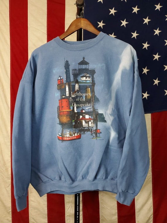 Vintage lighthouse crew crew neck sweatshirt
