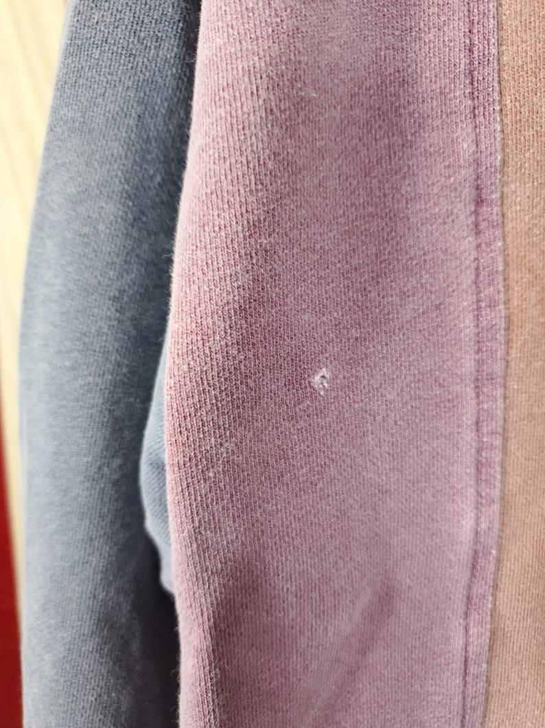 90s Collared Multi Color Quarter Button Up Sweatshirt