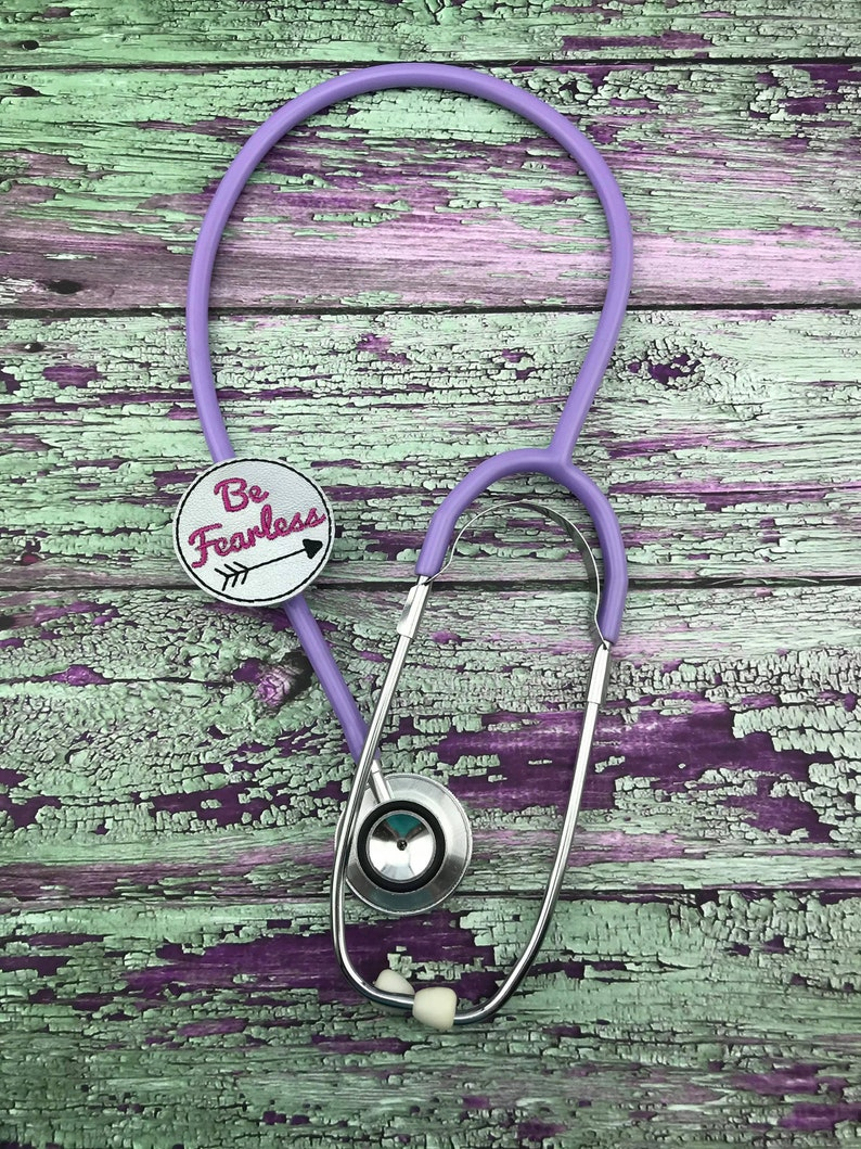 Lanyard Stethoscope ID Tag Planner Clip Retractable Badge ID Badge Reel Paper Clip Be Fearless