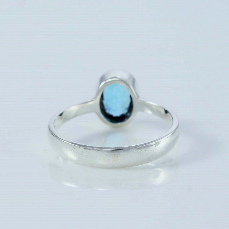 Unique Gift Ring Gift For Her Handmade Ring, Stunning Sterling Silver LONDON BLUE TOPAZ Ring Silver Ring Gemstone Ring Designer Ring