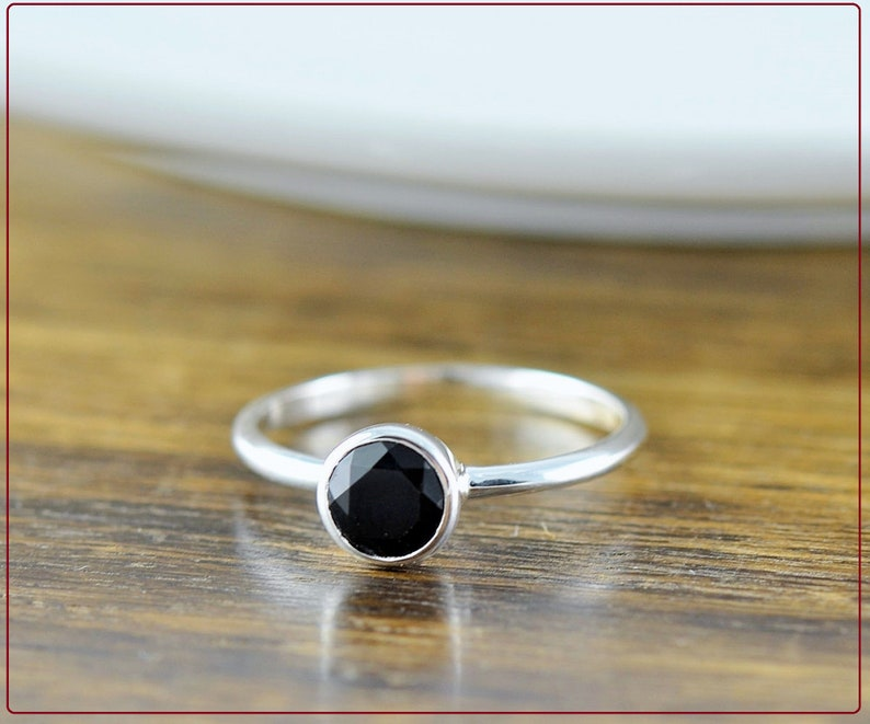 Gemstone Ring Attractive Sterling Silver BLACK ONYX Ring Gift For Her Handmade Ring, Silver Ring Unique Gift Ring Designer Ring