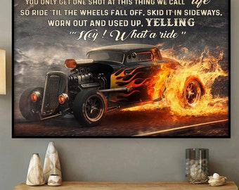 To My Son I Pray You/'ll Always Be Safe Boy /& Hot Rod Car Decor Poster No Frame