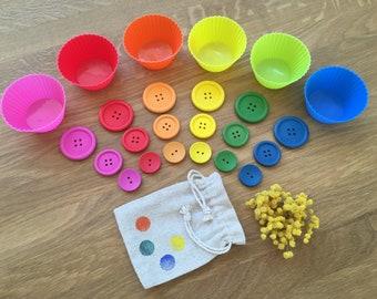 RAINBOW Colors Sort Sizes Montessori Crèche Kita Kindergarten Home