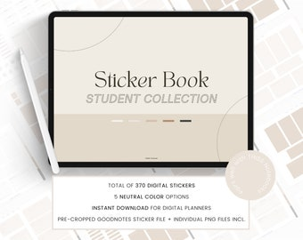 Digital Stickers for Students | Digital planning stickers | Notability & GoodNotes stickers set | Minimal Stickers Planner Sticker Book PNG