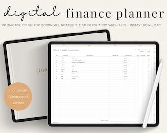 Digital Budget Planner | Financial Planner | Finance Planner | Finance Tracker | Budget Template and Tracker for Savings | iPad Planner