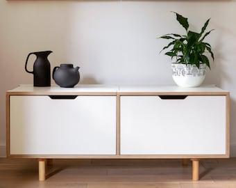 Scandinavian style plywood sideboard, Contemporary storage - Benji