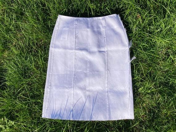 vintage skirt / margiela skirt / white nylon skirt