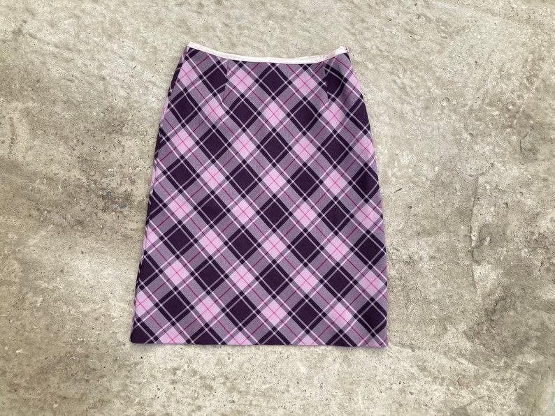 vintage skirt  checked skirt  violet skirt  90s skirt  purple skirt  a-line skirt  dorothy perkins skirt