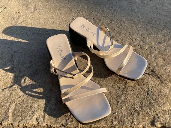 vintage sandals / platform sandals / 00s sandals /