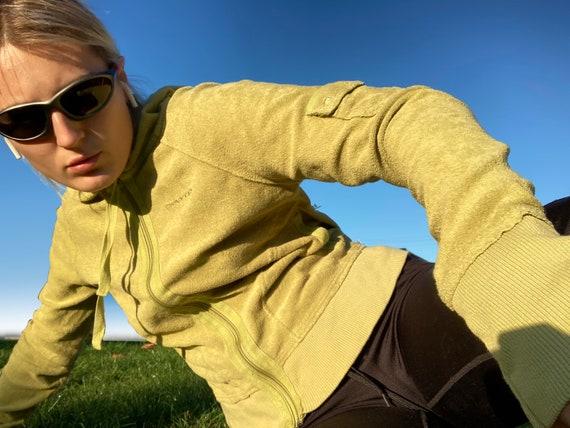 y2k hoodie / dkny hoodie / green terry hoodie / 00