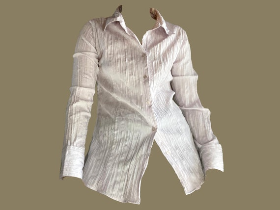 vintage shirt blouse / y2k shirt blouse / white sh