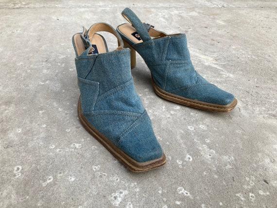 vintage mules / jeans mules / 00s mules / 90s mul… - image 1