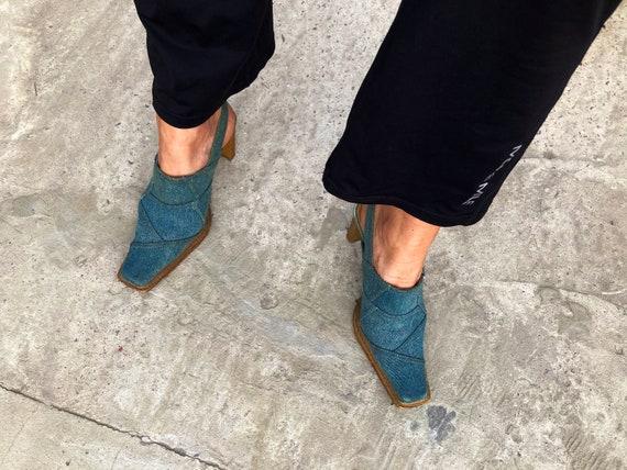 vintage mules / jeans mules / 00s mules / 90s mule