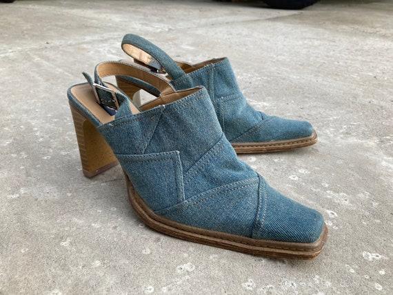 vintage mules / jeans mules / 00s mules / 90s mul… - image 7