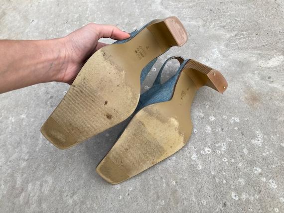 vintage mules / jeans mules / 00s mules / 90s mul… - image 10