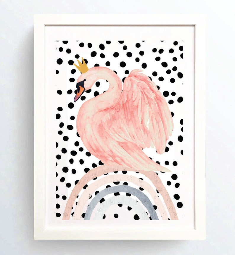 Princess swan lake rainbow print