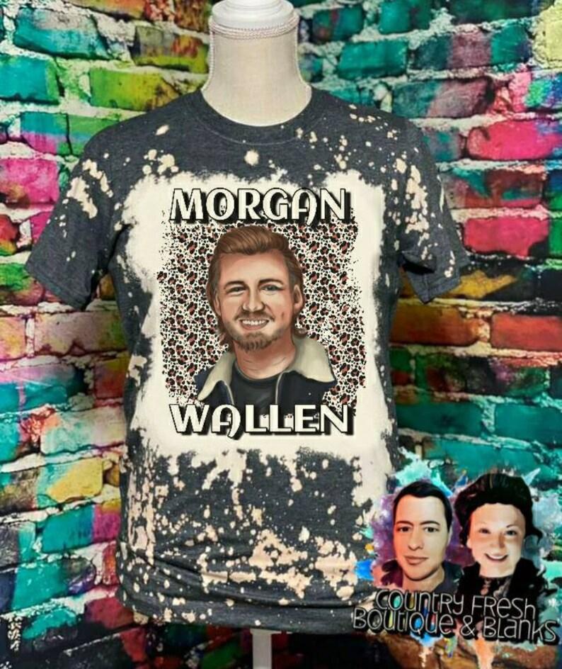 Morgan Wallen Distressed Cheetah Upcycled Tshirt