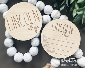 Newborn Name Sign Small Baby Name Sign My Name Is Personalized Birth Announcement Name Announcement Hospital Birth Announcement