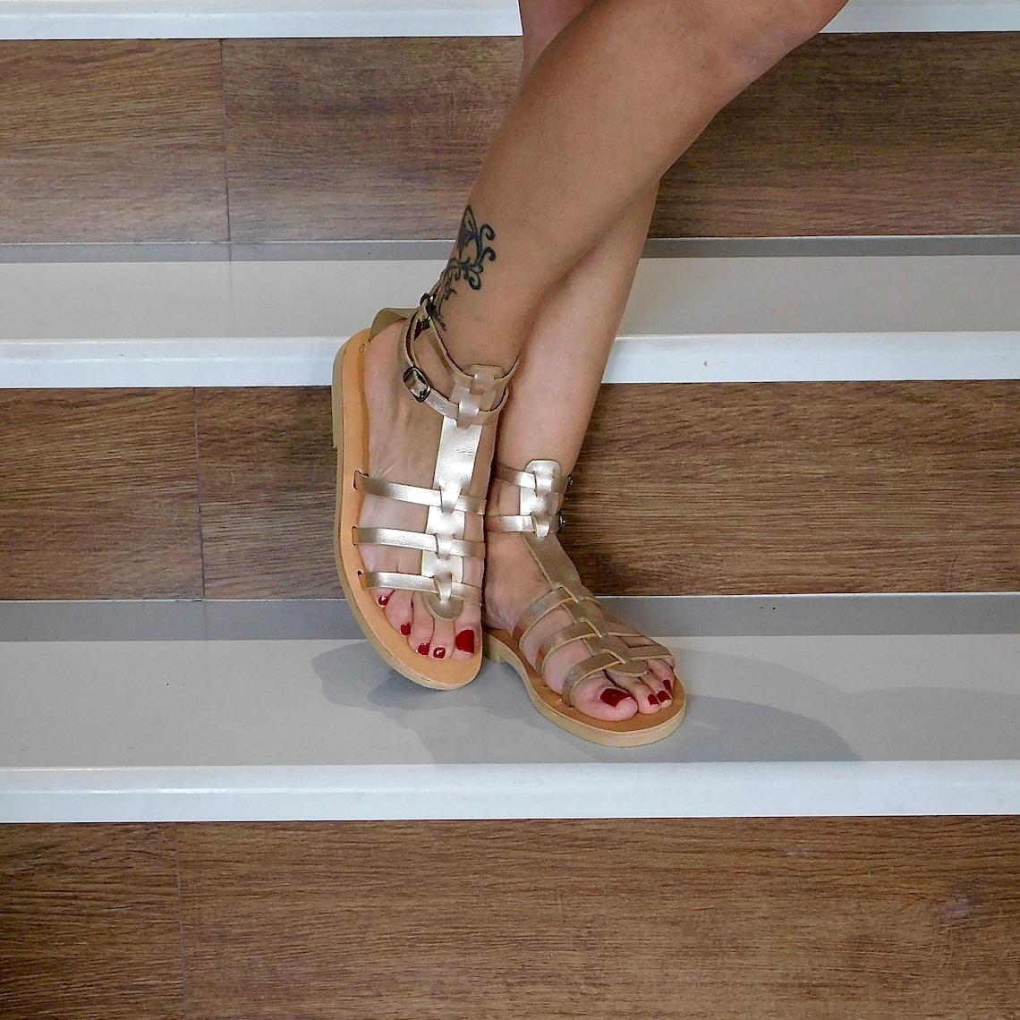 Gladiator sandals, sandals for women, wedding sandals, ankle straps sandals, metallic sandals, greek sandals, leather shoes, flat shoes