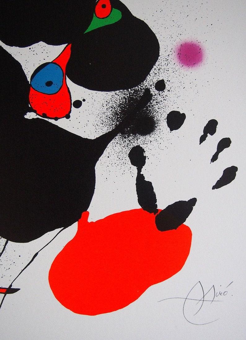 Plate 5 from Les Voyants  Framed Art Print Joan Mir\u00f3