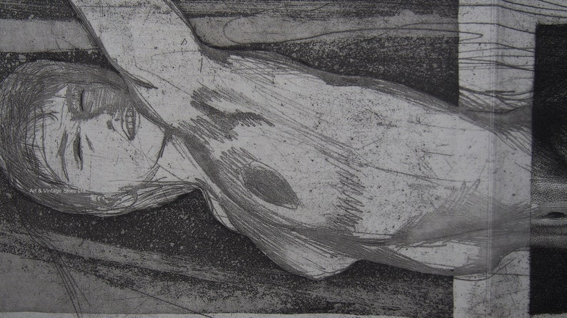 Ernst Fuchs Original Limited edition etching /& Aquatint 1967