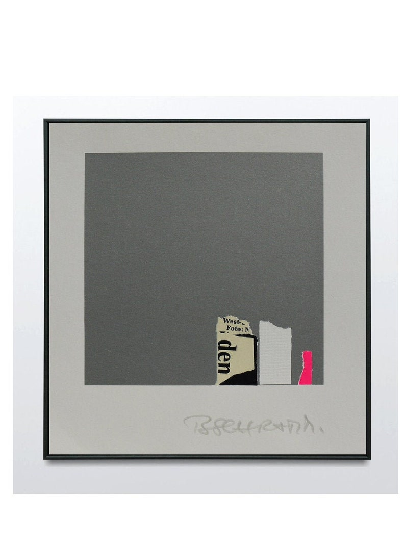 Hand Signed Lithograph 1983 Bodo Schramm