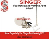 Singer Walking Foot With Guide Fits Featherweight 221 More See Description