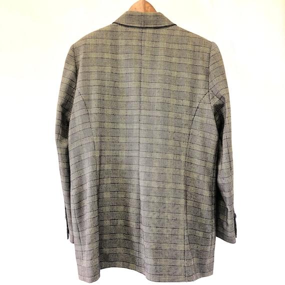 Vintage pure new wool plaid jacket. 90s brown pla… - image 9