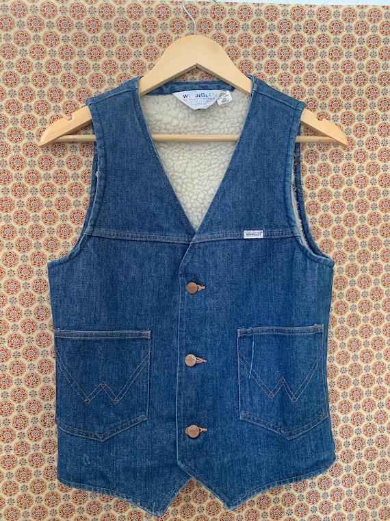 Vintage 1970's Wrangler Denim Vest