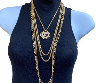 Multi-strand Gold Plated Necklace