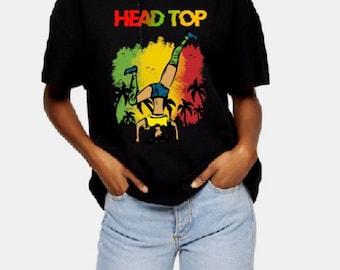Reggae T-shirt Head Top, Jamaican Culture, Swimsuit, West Indian, Fun, Yardie, Jamaica, Caribbean vibes, Jamaican vacation