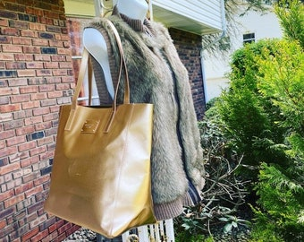 Michael Kors Metallic Rose Gold Tote Bag Purse