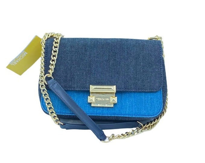 Michael Kors Sloan Denim Blue Crossbody Bag