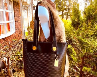 Dooney & Bourke Perforated Leather Bag/Tote