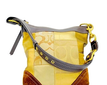 Coach Signature Patchwork Gold Handbag