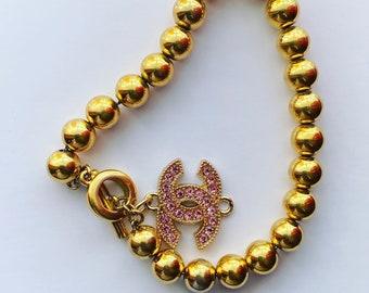 Repurposed Button Toggle Bracelet