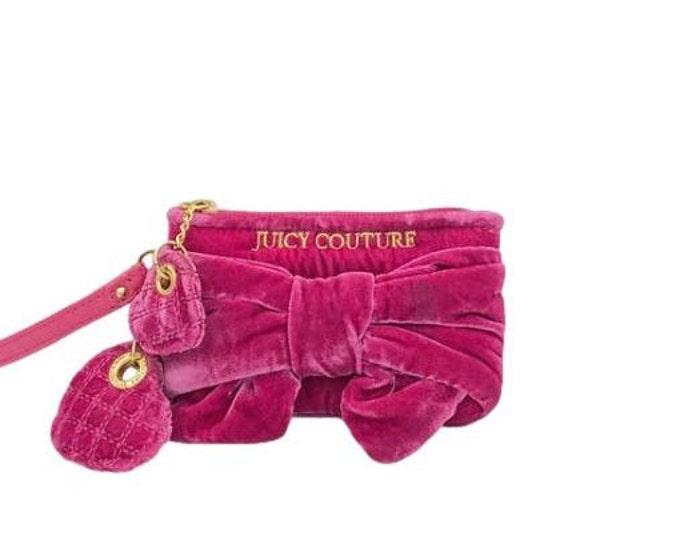Juicy Couture Plush Velvet Bow Wristlet