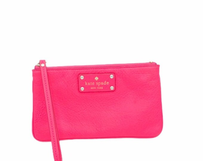 Kate Spade Pink Leather Wristlet/Clutch