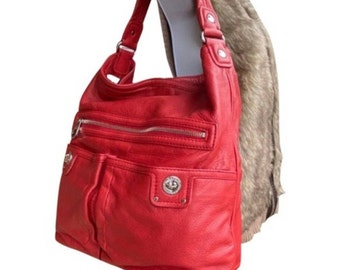 Marc Jacobs Large Red Leather Hobo