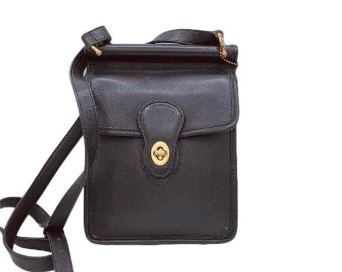 Vintage Coach Black Leather Murphy Bag Purse