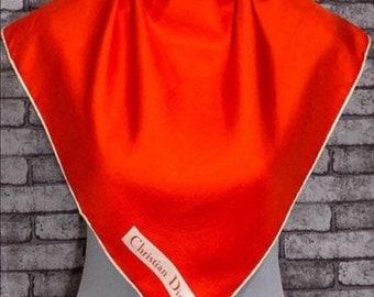 Vintage Christian Dior Silk Scarf 30x30
