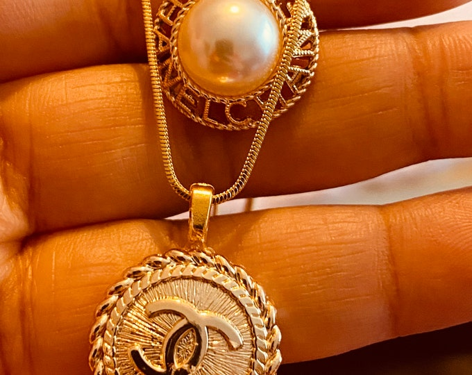 Repurposed Vintage Button Necklace