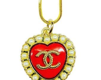 Repurposed Designer Button Necklace