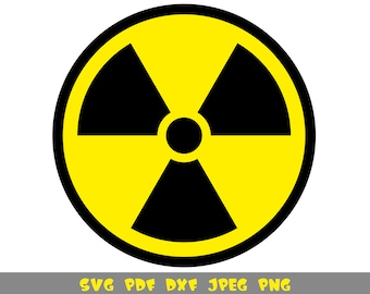 Radiation SVG /& Studio 3 Cut File Decal Files Logo for Silhouette Cricut SVGS Warning Caution Beware Zombie Halloween Costume Sign