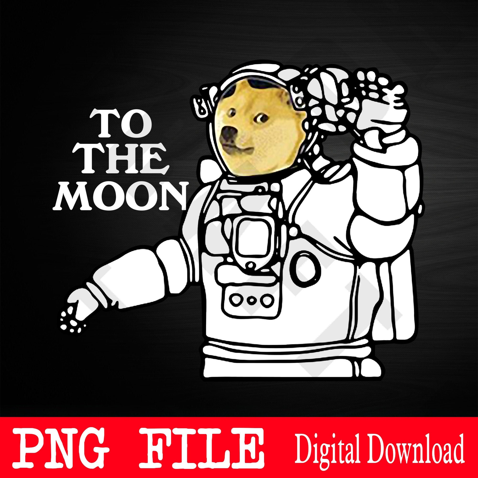 Dogecoin To The Moon Cool 2021 Png Dogecoin Png Dogecoin ...
