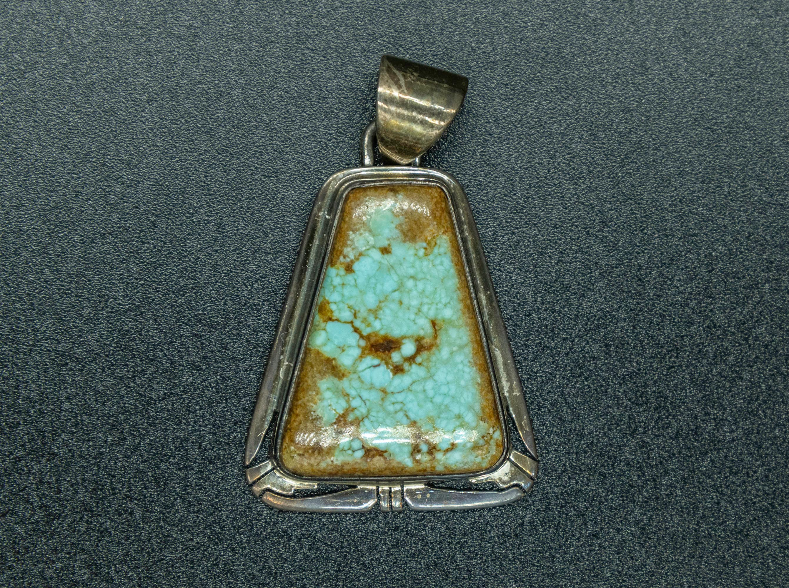 Sterling Silver Turquoise Pendant P0106