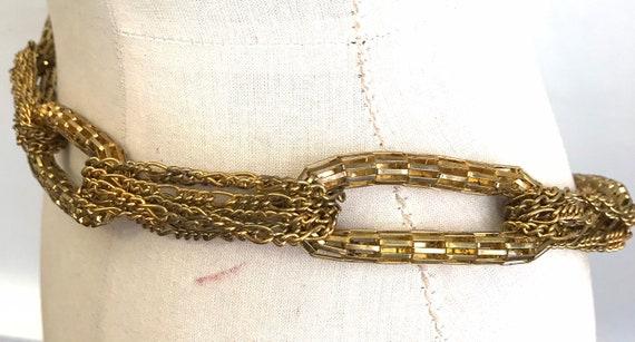 Vintage chain belt 80s gold