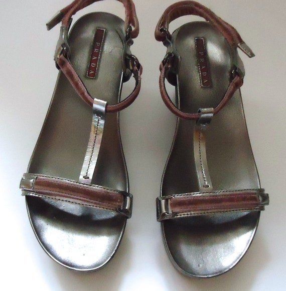 Vintage Prada Shoes Plateau Sandals Prada