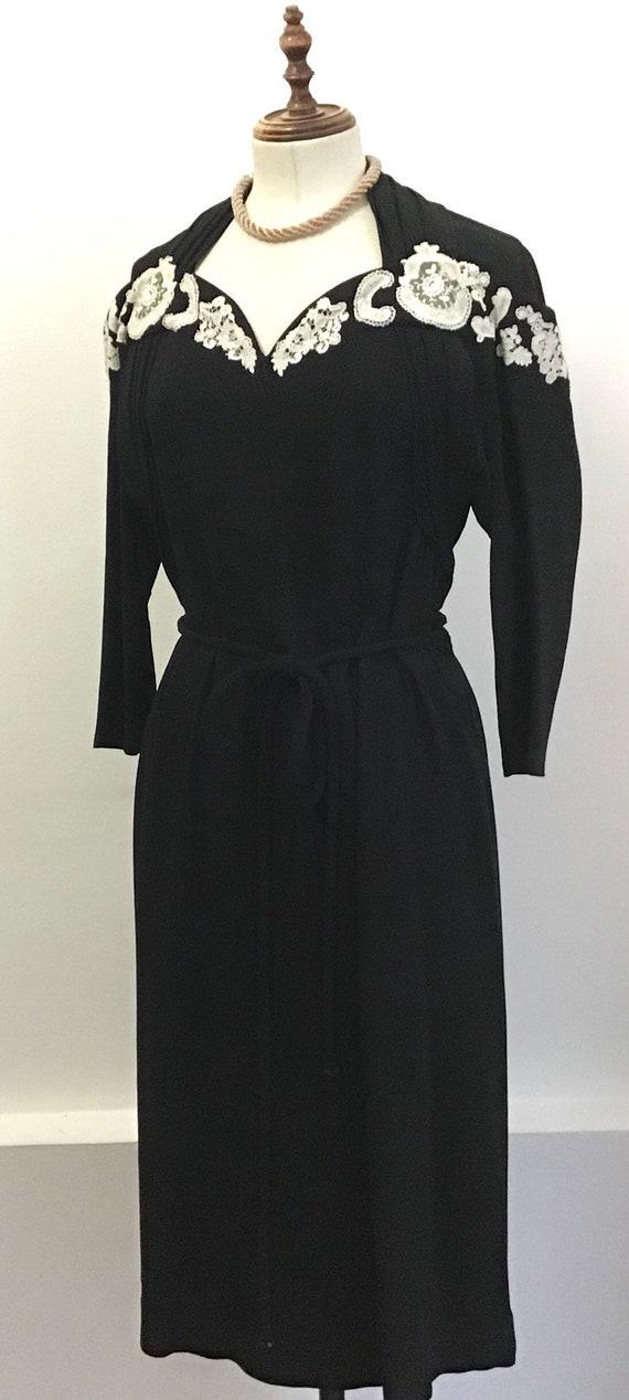 Vintage 40s dress - image 4